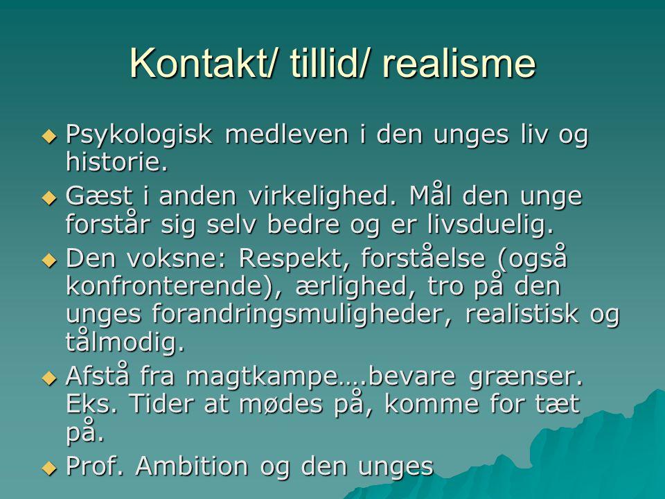 Kontakt/ tillid/ realisme