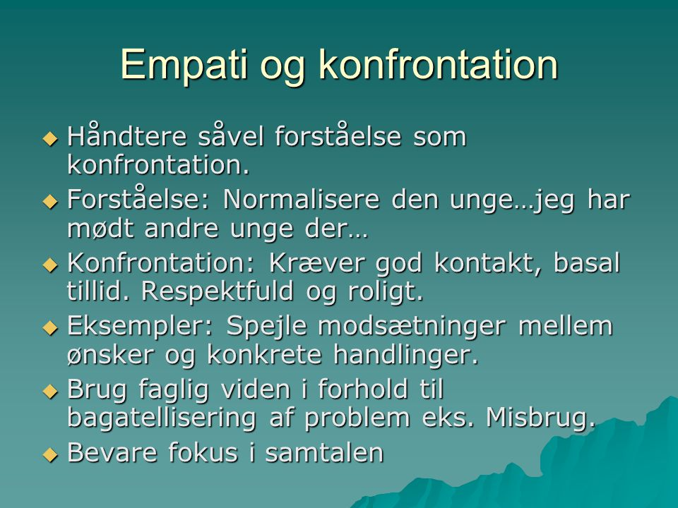 Empati og konfrontation