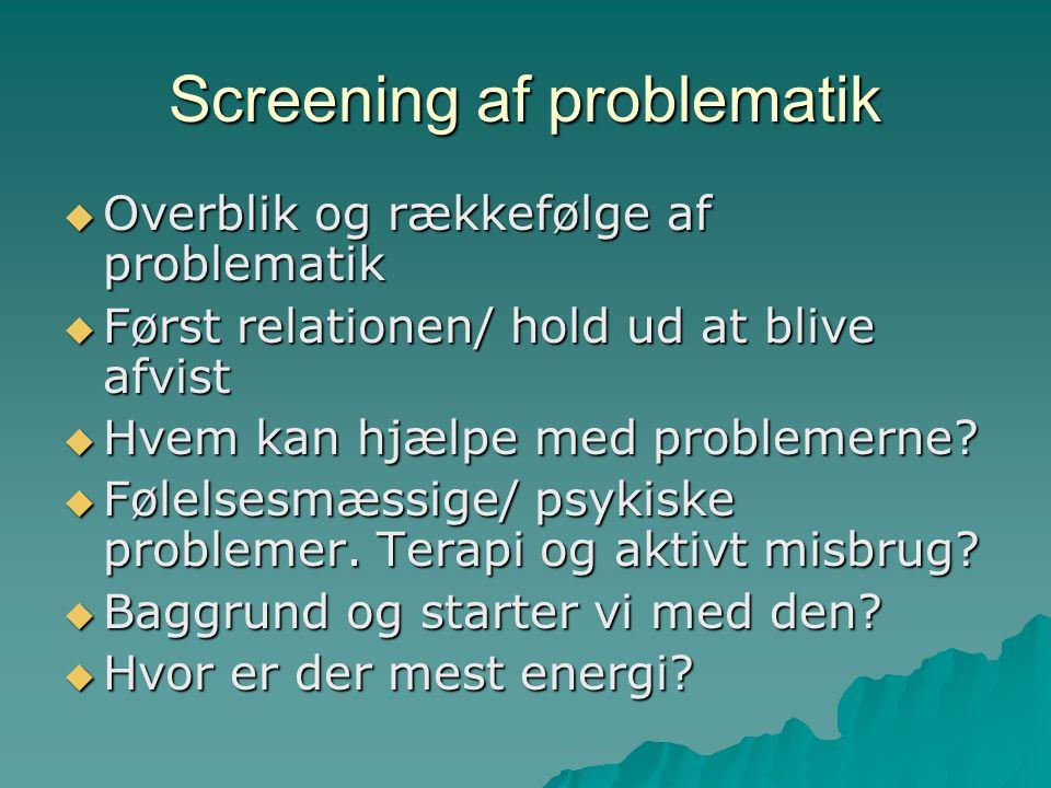 Screening af problematik