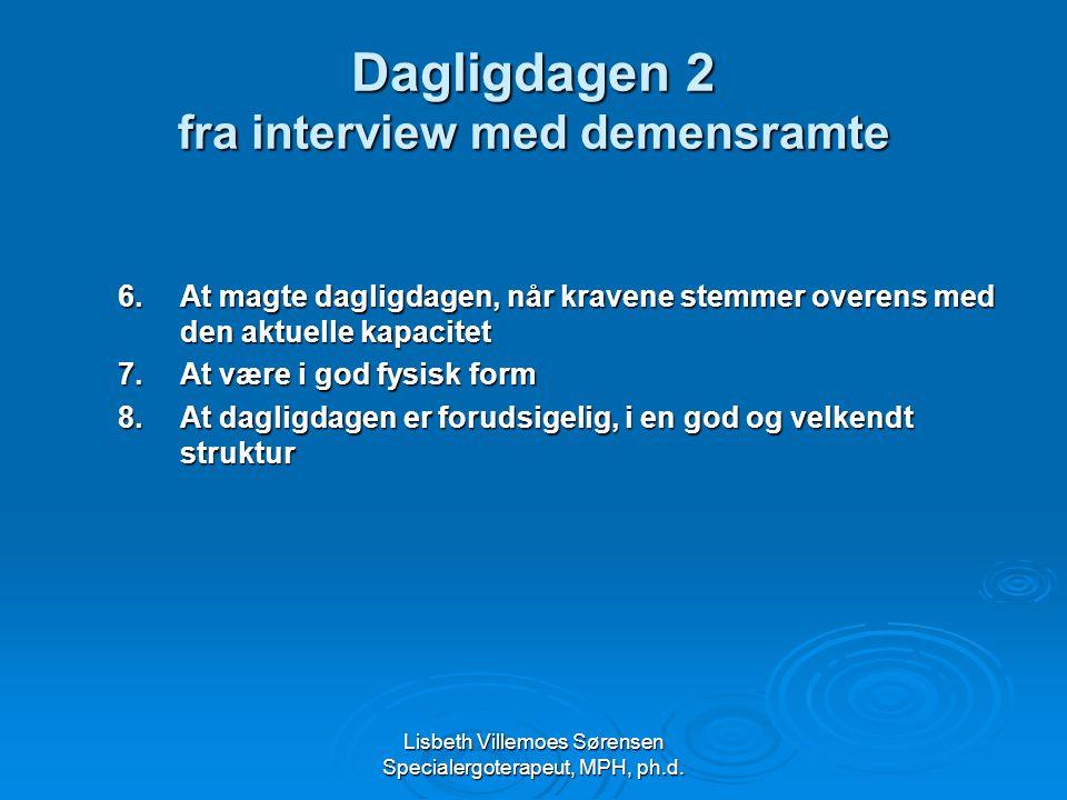 Dagligdagen 2 fra interview med demensramte