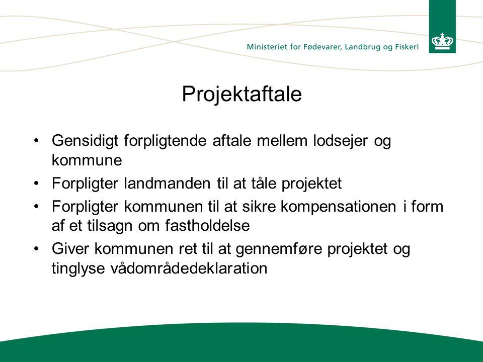 Projektaftale Gensidigt forpligtende aftale mellem lodsejer og kommune