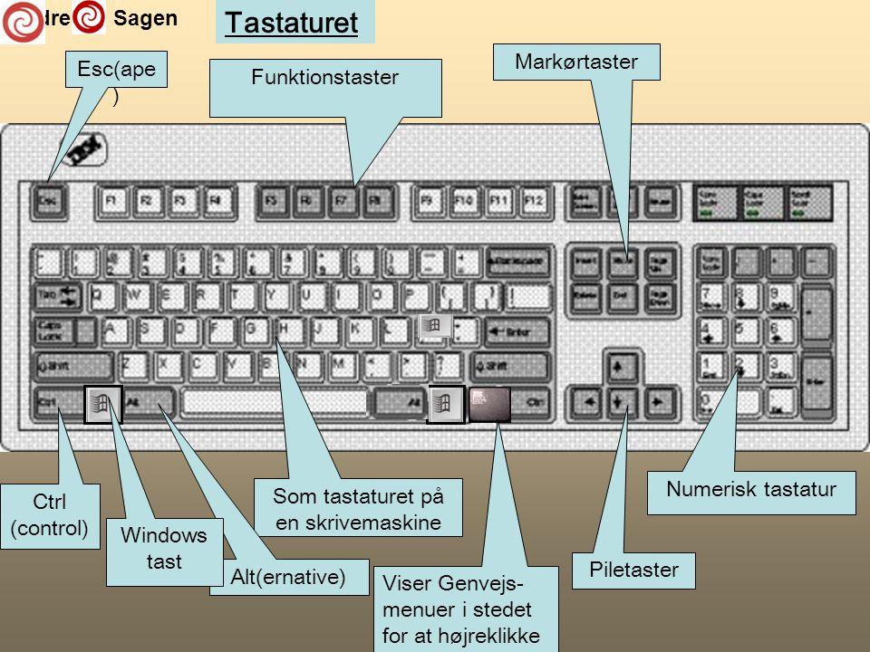 Som tastaturet på en skrivemaskine