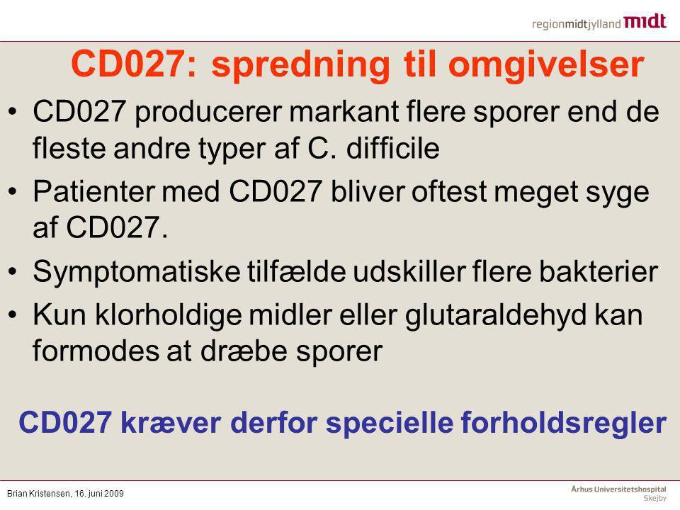 CD027: spredning til omgivelser
