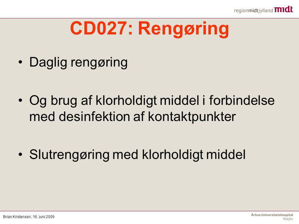 CD027: Rengøring Daglig rengøring