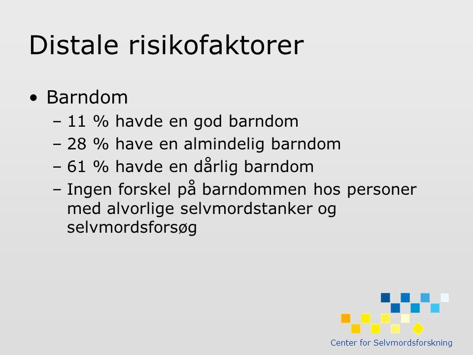 Distale risikofaktorer