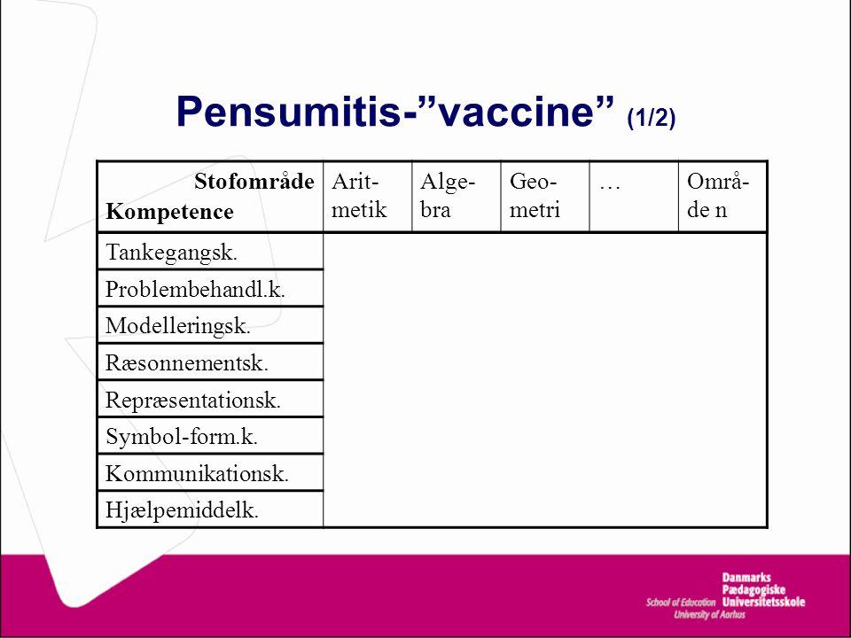 Pensumitis- vaccine (1/2)