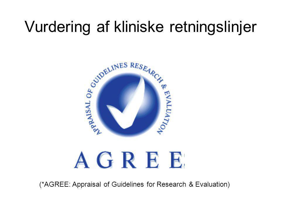 Vurdering af kliniske retningslinjer