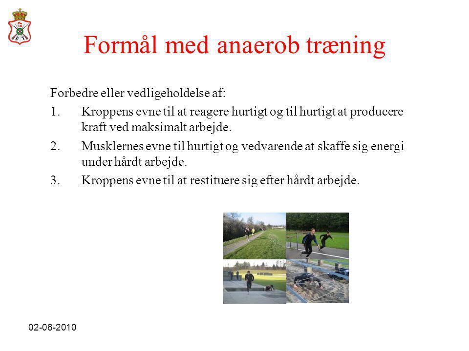 Formål med anaerob træning