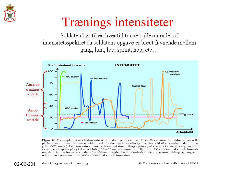 Trænings intensiteter