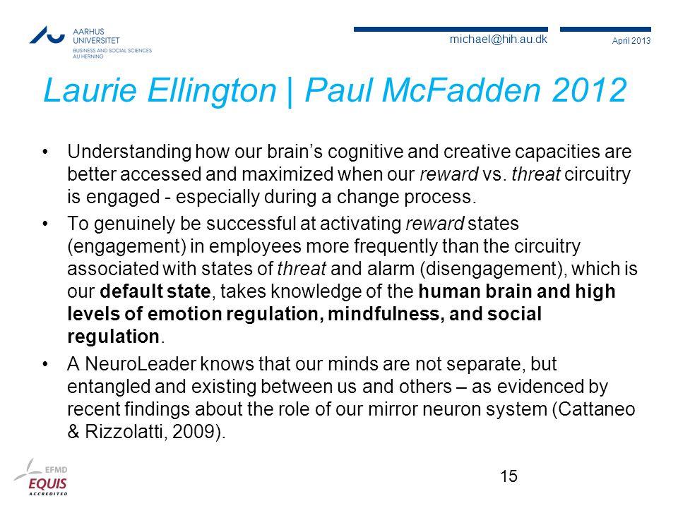 Laurie Ellington | Paul McFadden 2012