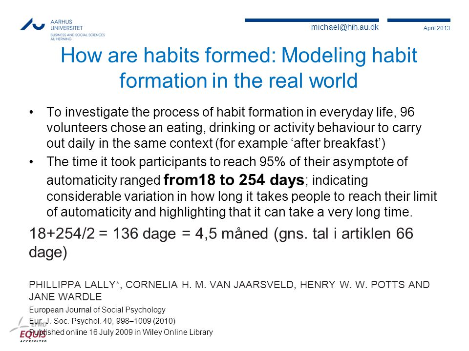 How are habits formed: Modeling habit formation in the real world