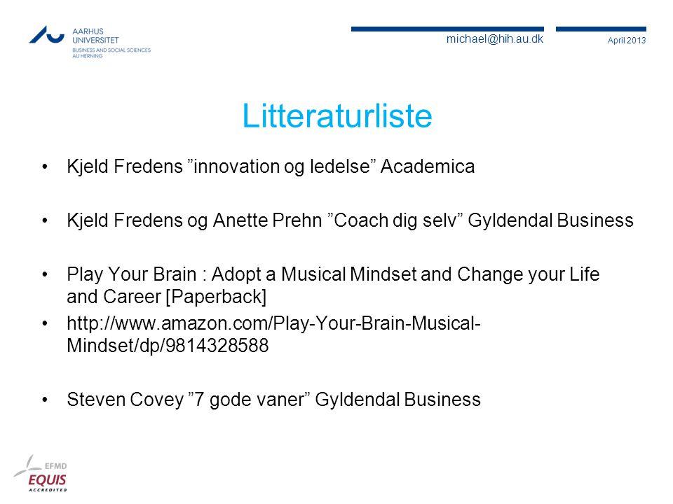 Litteraturliste Kjeld Fredens innovation og ledelse Academica