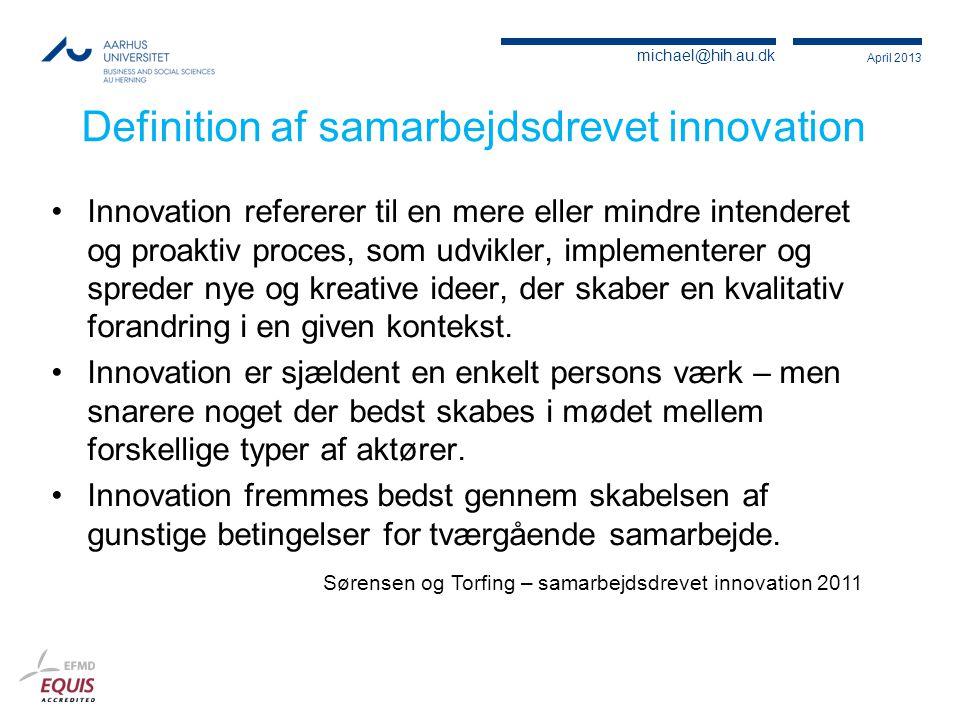 Definition af samarbejdsdrevet innovation