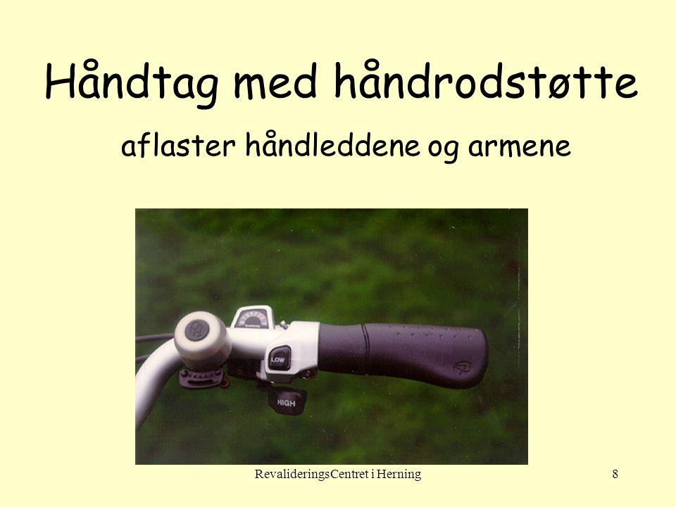 Håndtag med håndrodstøtte