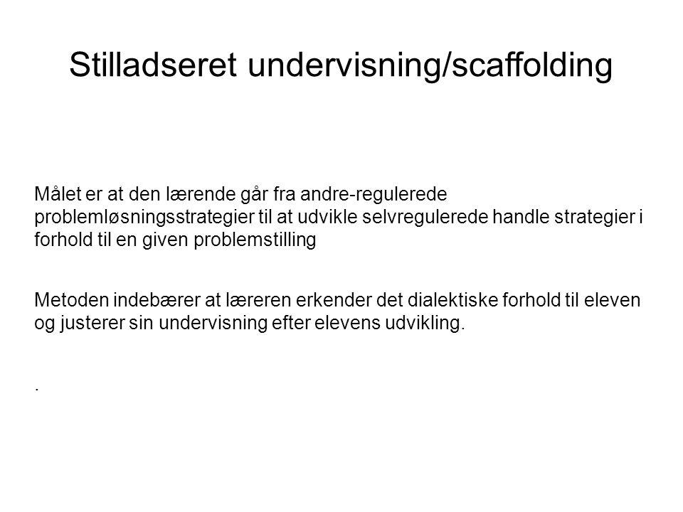 Stilladseret undervisning/scaffolding