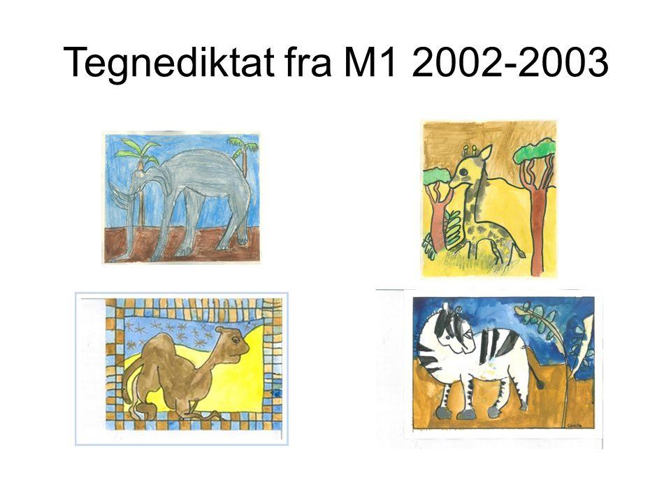 Tegnediktat fra M1 2002-2003