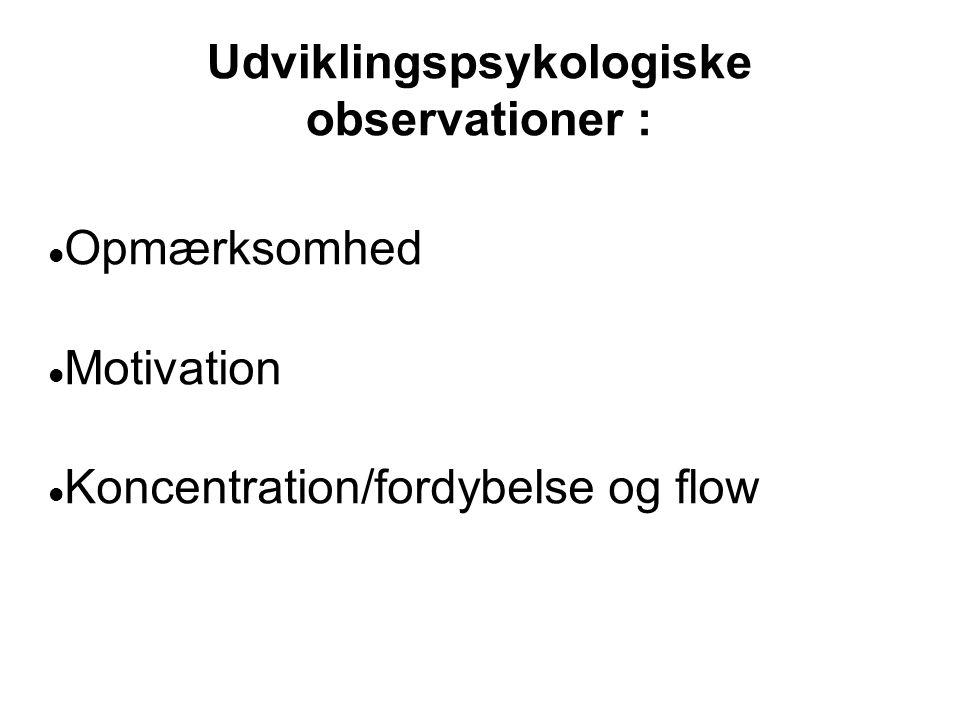 Udviklingspsykologiske observationer :