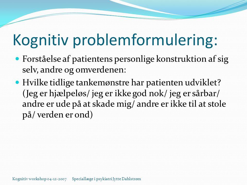 Kognitiv problemformulering: