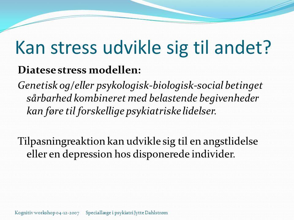 Kan stress udvikle sig til andet