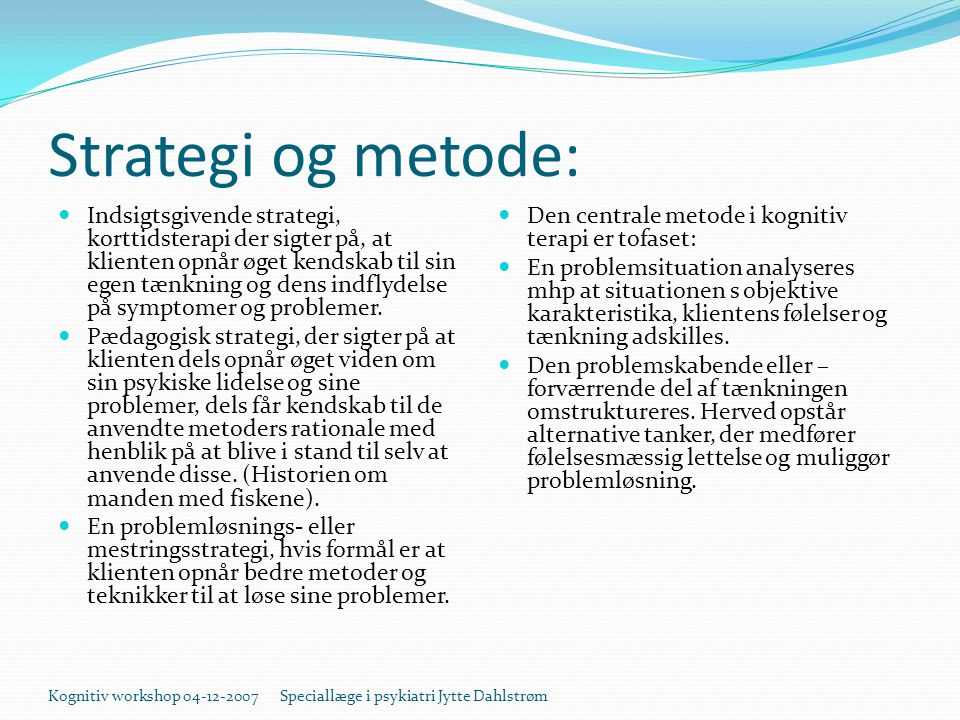 Strategi og metode: