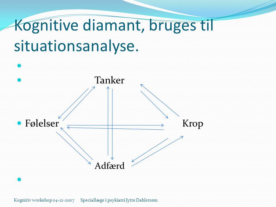 Kognitive diamant, bruges til situationsanalyse.