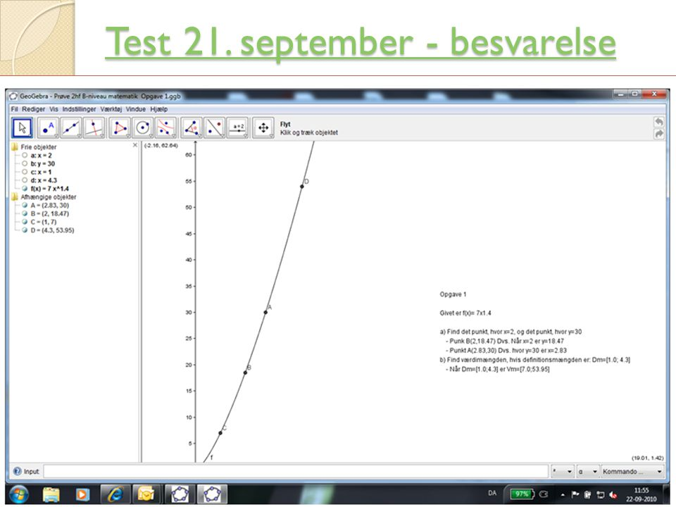 Test 21. september - besvarelse