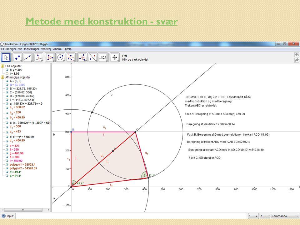 Metode med konstruktion - svær