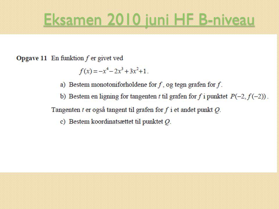 Eksamen 2010 juni HF B-niveau