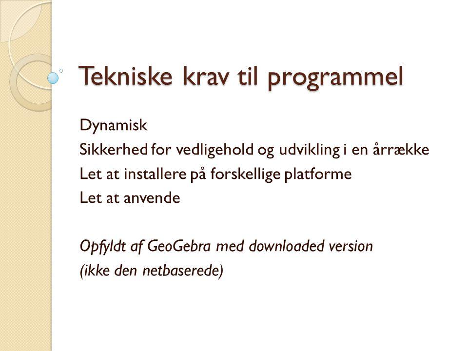 Tekniske krav til programmel