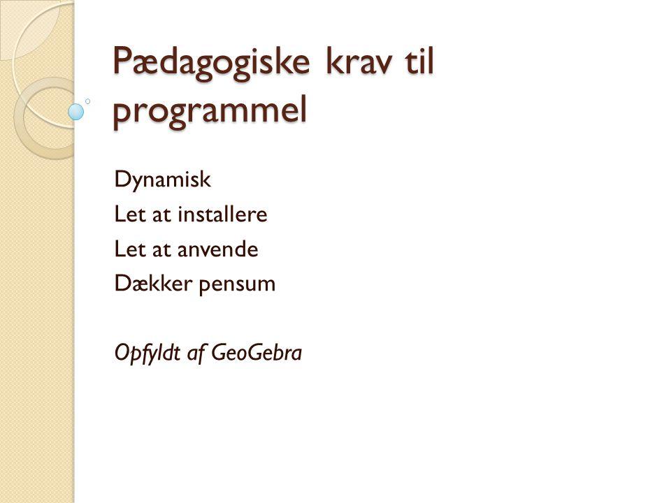 Pædagogiske krav til programmel