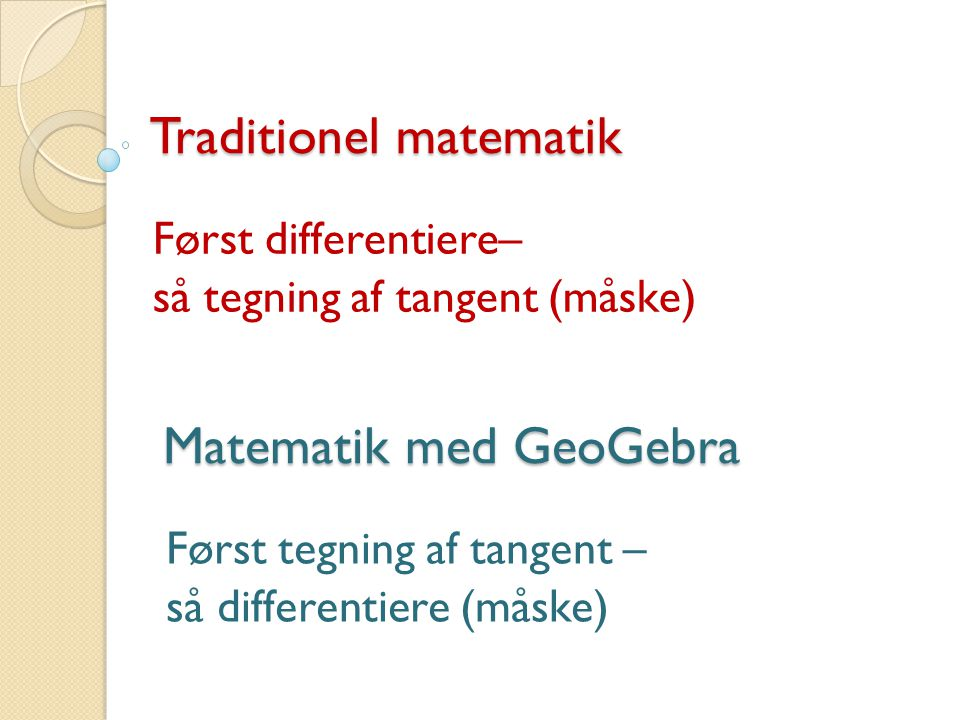 Traditionel matematik