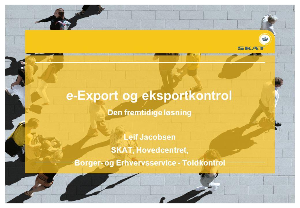 e-Export og eksportkontrol