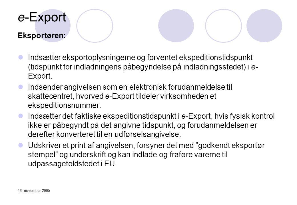 e-Export Eksportøren: