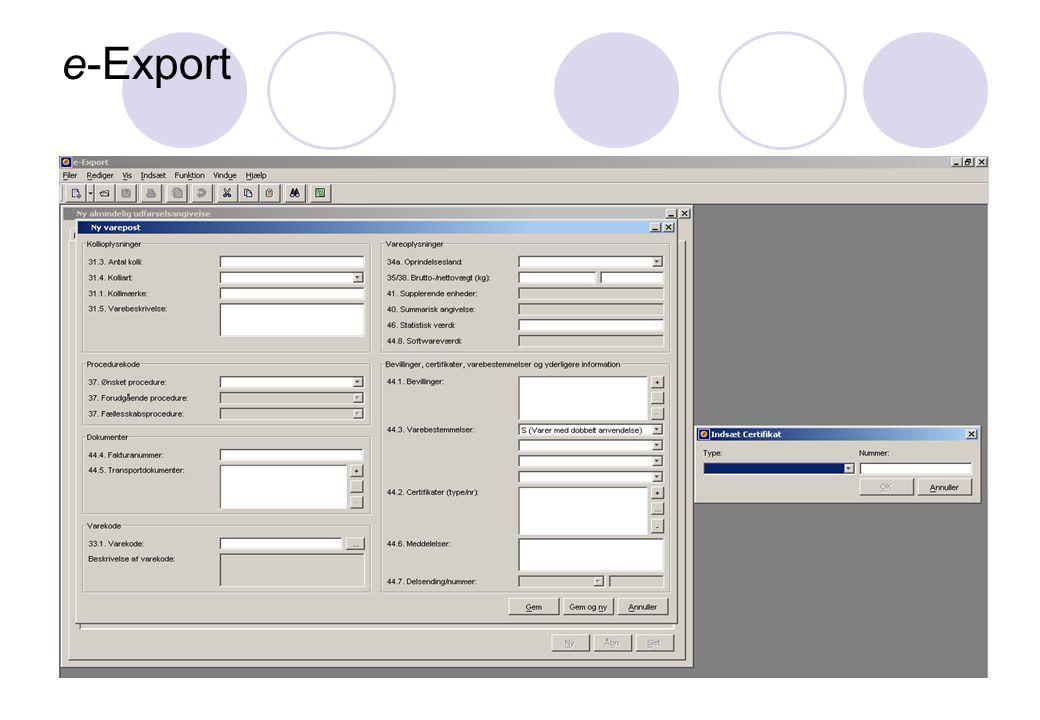 e-Export 16. november 2005