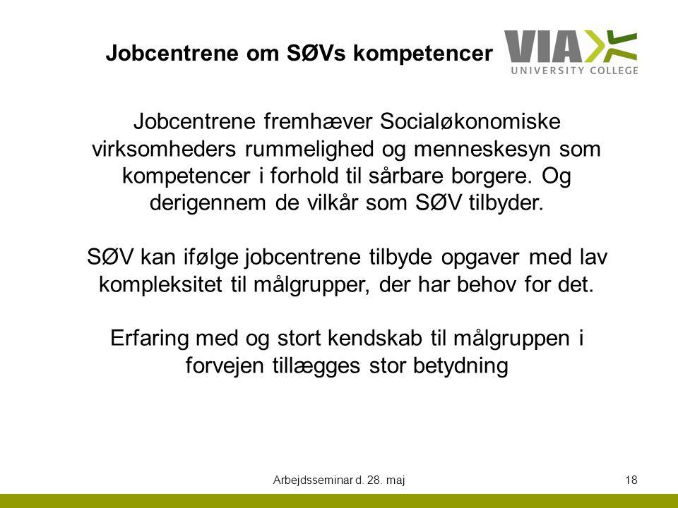 Jobcentrene om SØVs kompetencer