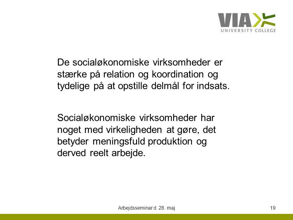 De socialøkonomiske virksomheder er stærke på relation og koordination og tydelige på at opstille delmål for indsats.
