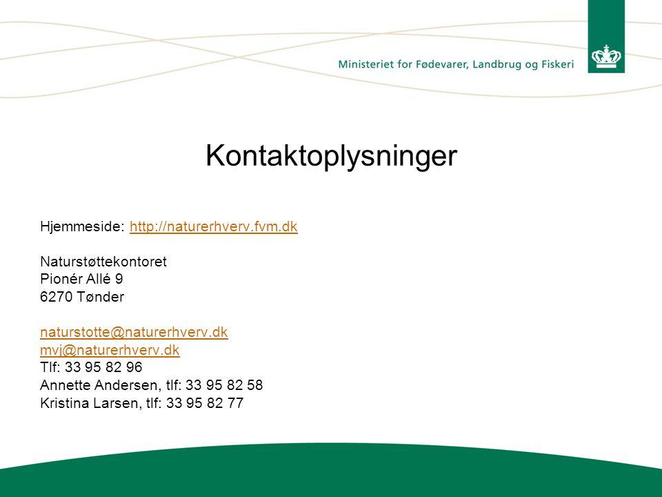 Kontaktoplysninger Hjemmeside: http://naturerhverv.fvm.dk