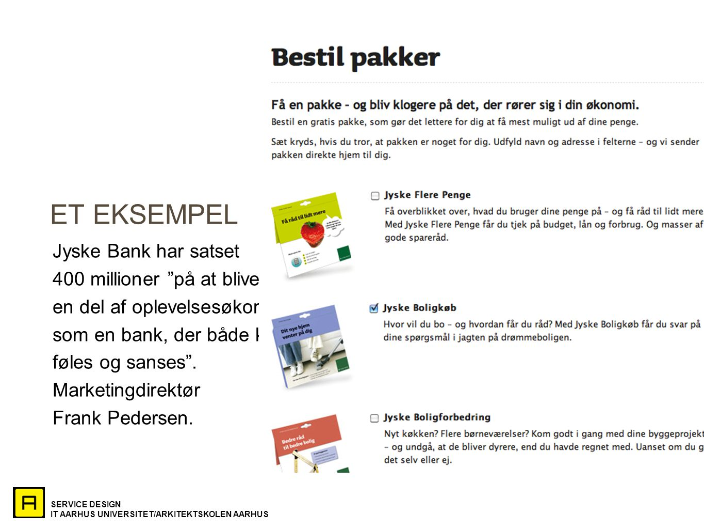 ET EKSEMPEL Jyske Bank har satset 400 millioner på at blive