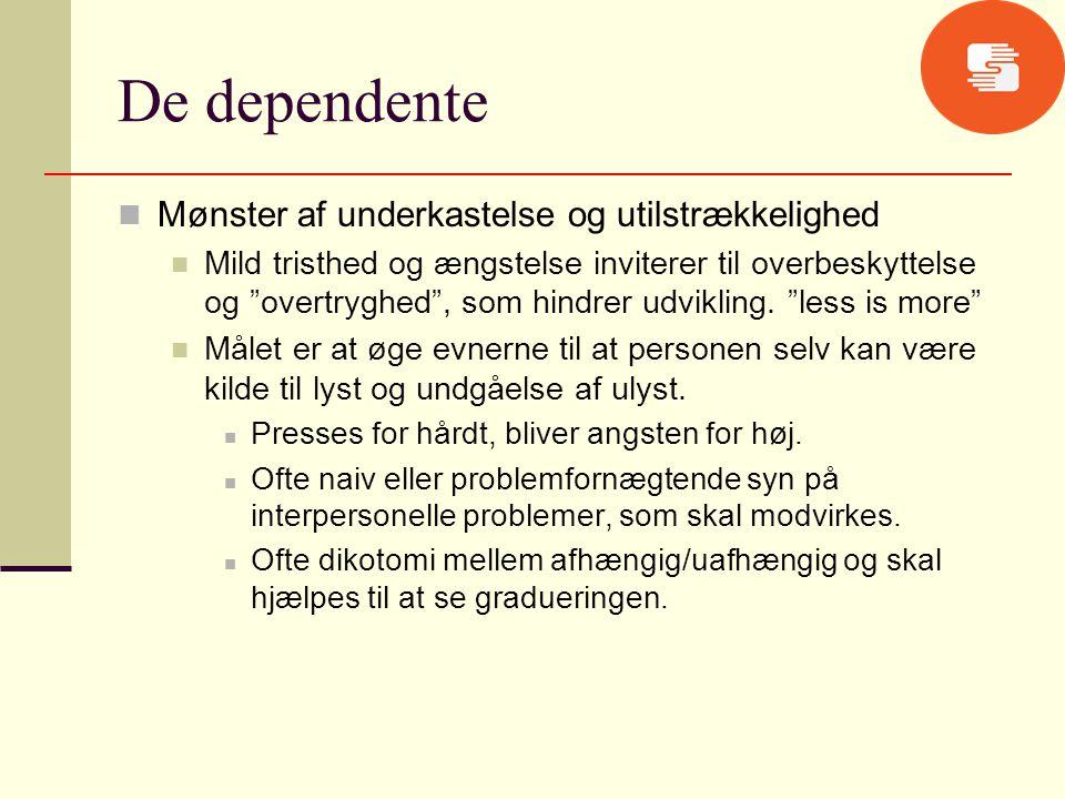 De dependente Mønster af underkastelse og utilstrækkelighed