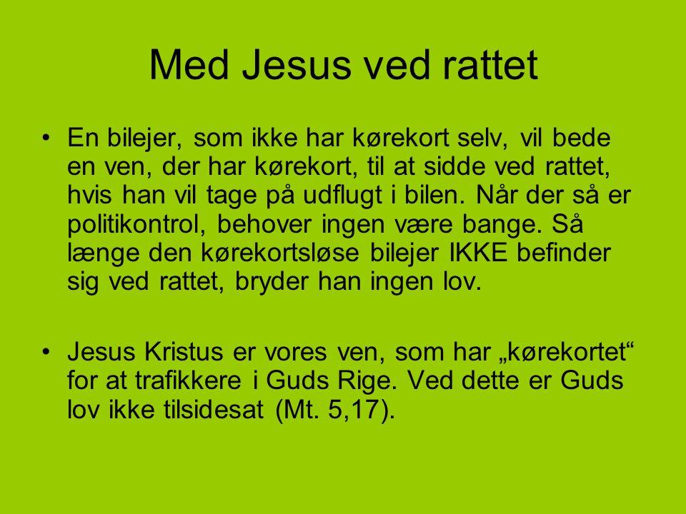 Med Jesus ved rattet