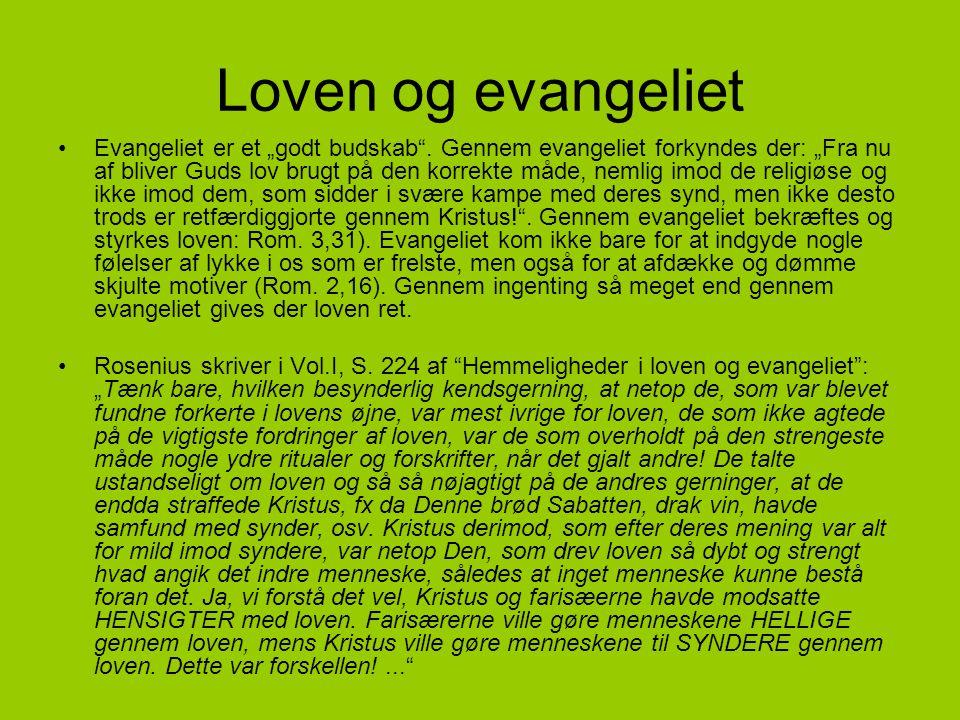 Loven og evangeliet
