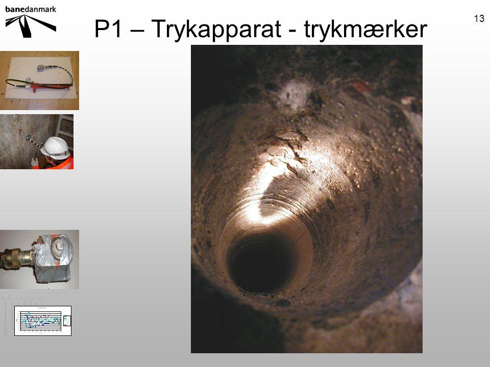 P1 – Trykapparat - trykmærker