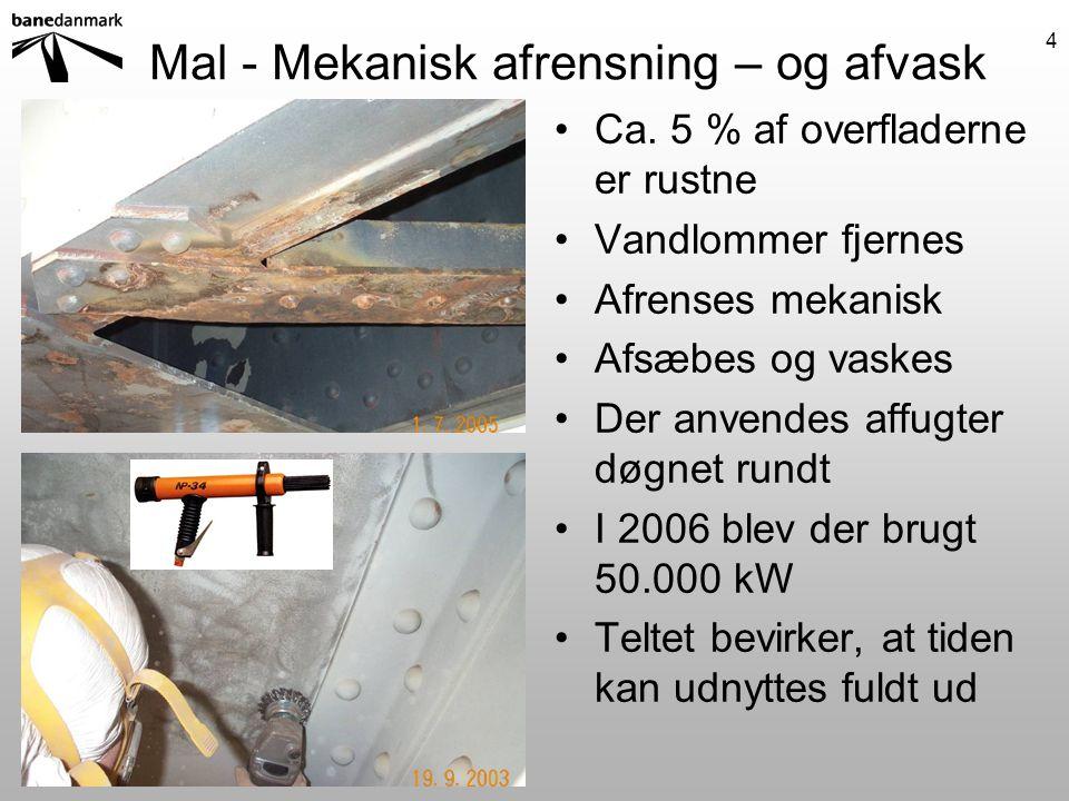 Mal - Mekanisk afrensning – og afvask