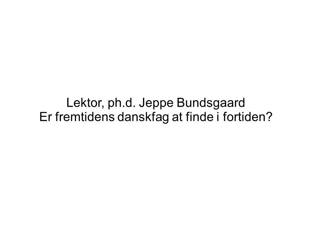 Lektor, ph.d. Jeppe Bundsgaard