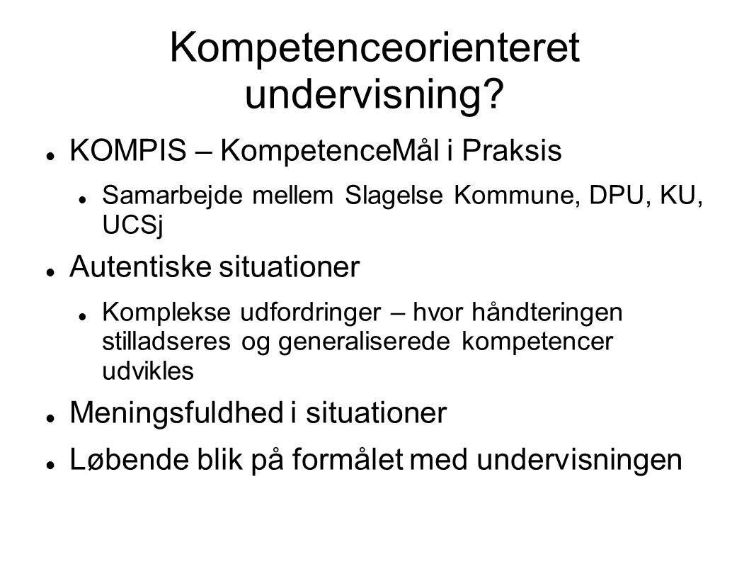 Kompetenceorienteret undervisning
