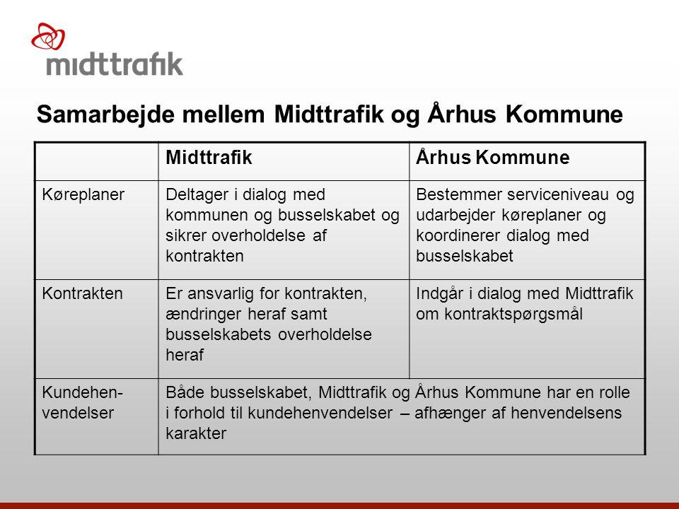 Samarbejde mellem Midttrafik og Århus Kommune