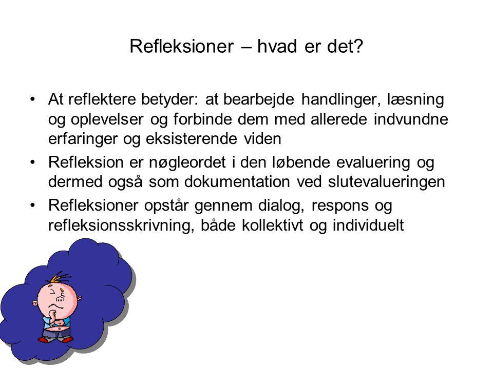 Refleksioner – hvad er det