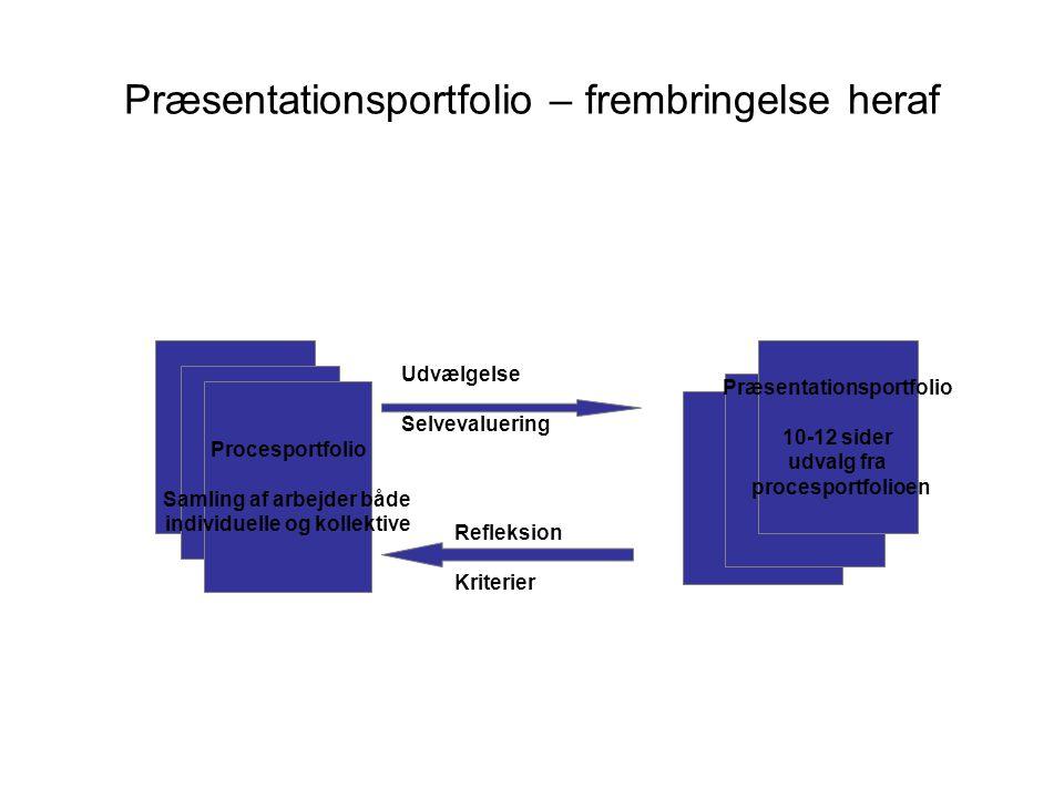 Præsentationsportfolio – frembringelse heraf