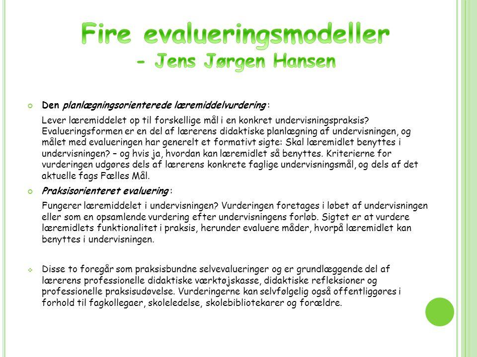 Fire evalueringsmodeller
