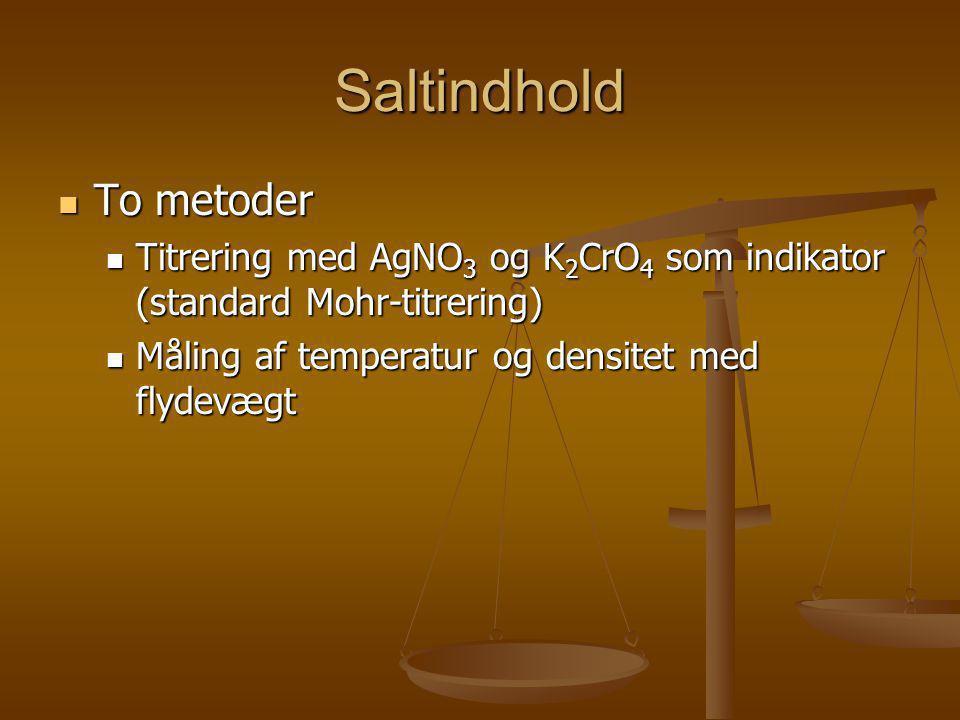 Saltindhold To metoder